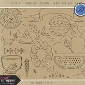 Slice of Summer- Doodle Template Kit 1