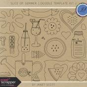 Slice of Summer- Doodle Template Kit 2