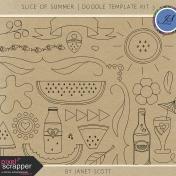 Slice of Summer- Doodle Template Kit 3