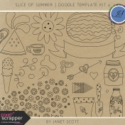 Slice of Summer- Doodle Template Kit 4