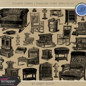 Toolbox Stamps- Furniture Stamp Template Kit