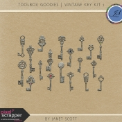 Toolbox Goodies- Vintage Key Kit 1