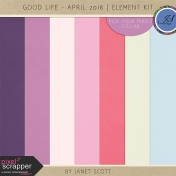 Good Life- April 2018- Solid Paper Kit