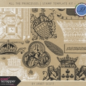 All the Princesses- Stamp Template Kit 1
