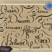 All the Princesses- Calligraphy Word Art Kit