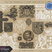 All the Princesses- Stamp Template Kit 2