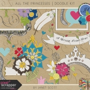 All the Princesses- Doodle Kit