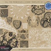 All the Princesses- Stamp Template Kit 3