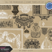 All the Princesses- Stamp Template Kit 5