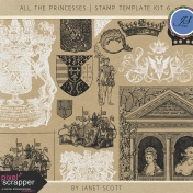 All the Princesses- Stamp Template Kit 6