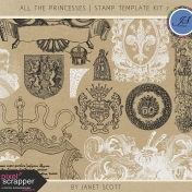 All the Princesses- Stamp Template Kit 7