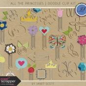 All the Princesses- Doodle Clip Kit