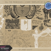All the Princesses- Stamp Template Kit 8