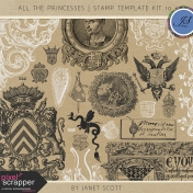 All the Princesses- Stamp Template Kit 10