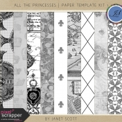 All the Princesses- Paper Template Kit 1