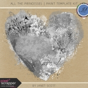 All the Princesses- Paint Template Kit