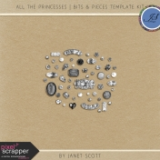 All the Princesses- Bits & Pieces Template Kit