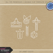 All the Princesses- Doodle Clip Template Kit
