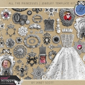 All the Princesses- Jewelry Template Kit