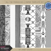 All the Princesses- Paper Template Kit 3