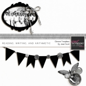 Reading, Writing, and Arithmetic - Element Templates Kit
