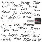 Tiny, But Mighty- Single Words Wordart Kit