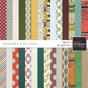 Grandma's Kitchen- Paper Kit