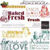Grandma's Kitchen- Word Art Kit