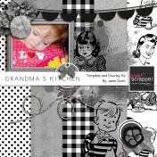 Grandma's Kitchen- Templates, Overlays, and Textures