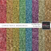 Christmas Memories- Glitter Papers