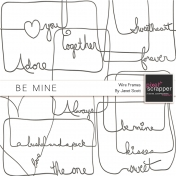 Be Mine- Wire Word Art Frames Kit