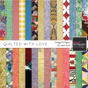 Quilted With Love- Vintage Paper Kit