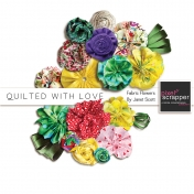 Quilted With Love- Fabric Flowers Kit