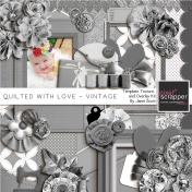 Quilted With Love- Vintage Template, Texture and Overlay Kit