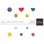 Quilted With Love- Button Kit