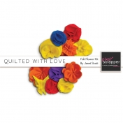 Quilted With Love- Felt Flower Kit