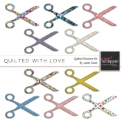 Quilted With Love- Quilted Scissors Kit