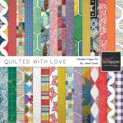 Quilted With Love- Modern Paper Kit