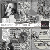 Quilted With Love- Modern Template, Texture and Overlay Kit