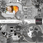 The Lucky One- Template, Texture and Overlay Kit