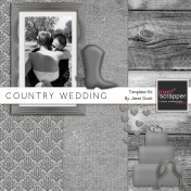 Country Wedding- Templates Kit
