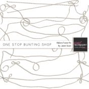 One Stop Bunting Shop Bundle- Baker's Twine Bunting Strings Kit
