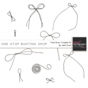 One Stop Bunting Shop- Baker's Twine Bows Template Kit