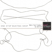 One Stop Bunting Shop- Baker's Twine String Template Kit 1