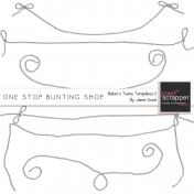 One Stop Bunting Shop- Baker's Twine String Template Kit 2