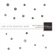 One Stop Bunting Shop- Button Template Kit