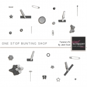 One Stop Bunting Shop- Bunting Fasteners Template Kit