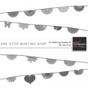 One Stop Bunting Shop- Pre-Made Flags Template Kit