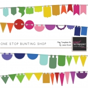 One Stop Bunting Shop- Shape Mask Flags Template Kit