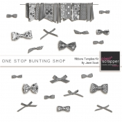 One Stop Bunting Shop- Ribbons and Bows Template Kit